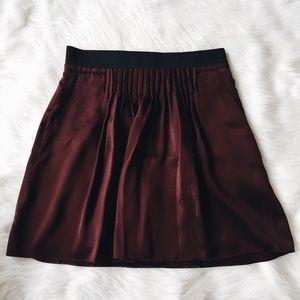 BR Silk Maroon Skirt